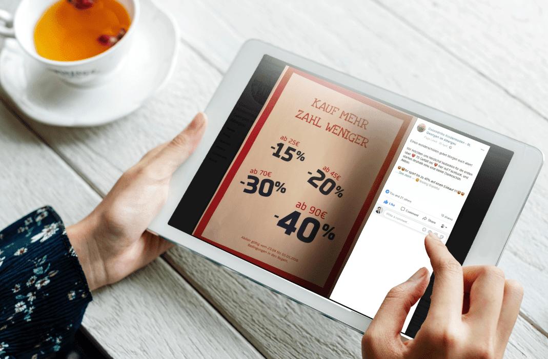Social Media Marketing Tablet